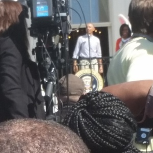 My blurry picture of POTUS - yay!